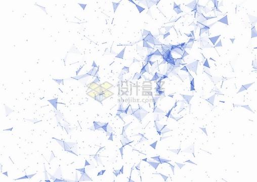 点线组成的紫色三角形装饰png图片免抠矢量素材