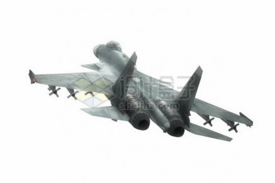 苏37侧卫三翼面战斗机后视图png免抠图片素材