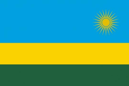 标准版卢旺达国旗图片素材