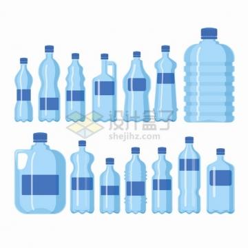 各种蓝色的纯净水桶矿泉水瓶塑料瓶png图片素材
