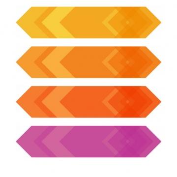 黄色橙色和红色多边形标题框装饰284963png图片素材