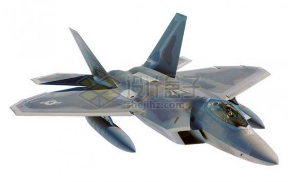 外挂副油箱的F22战斗机png免抠图片素材