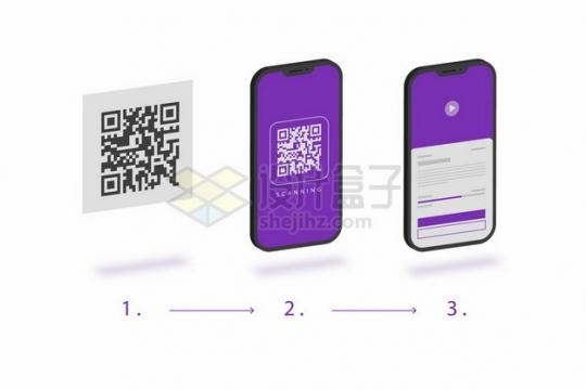 手机扫码应用流程图389680png矢量图片素材