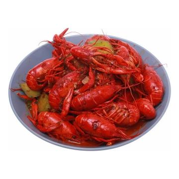 一盘麻辣小龙虾png图片免抠素材