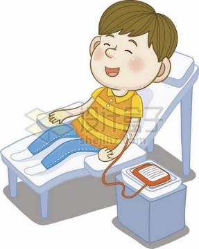卡通男孩正在无偿献血png图片素材