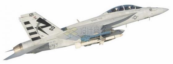 F18大黄蜂战斗机舰载机侧视图png免抠图片素材