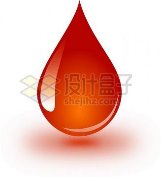 晶莹透亮的一滴血红色液滴血液png图片素材
