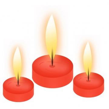 3根燃烧的红色许愿蜡烛5471080png图片素材