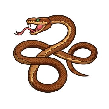 一款褐色的毒蛇图片动物免抠素材