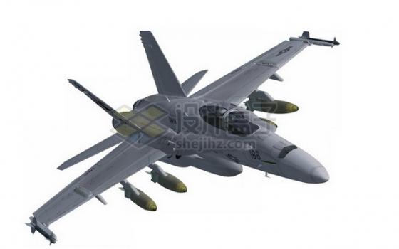 飞行中的F18大黄蜂战斗机png免抠图片素材