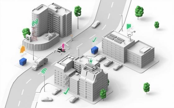 3D立体城市道路交通模型578025png图片免抠素材