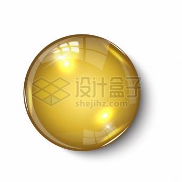逼真的金色圆形水晶按钮803943png矢量图片素材