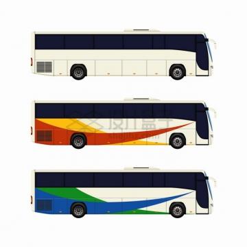 3款大巴车长途汽车png图片素材