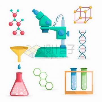 分子结构图电子显微镜DNA结构等生物化学实验仪器png图片免抠矢量素材
