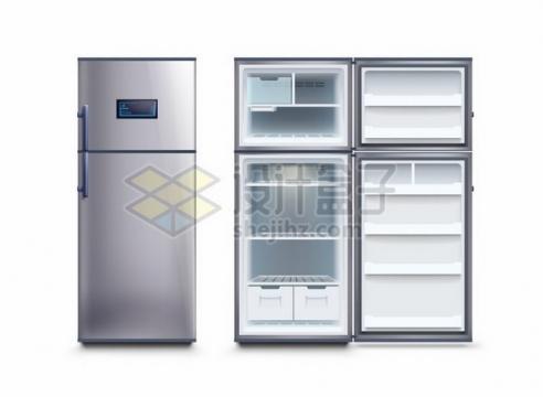 打开和关闭状态的电冰箱411354png图片素材