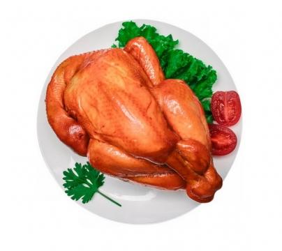 一盘美味的烤鸡png图片免抠素材