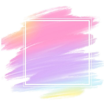 粉色蓝色油漆涂鸦风格笔刷装饰图片免抠素材