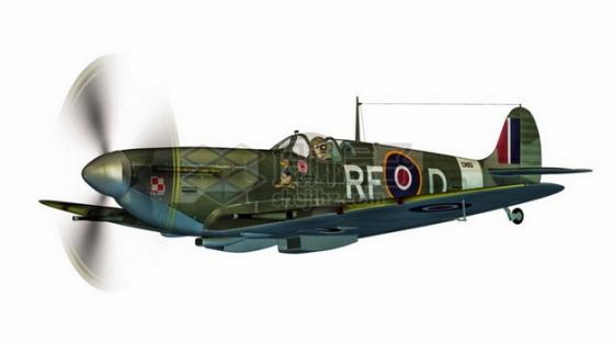 二战英国空军喷火式战斗机png免抠图片素材