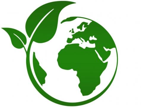 创意绿色树叶包围着地球世界地球日png图片素材