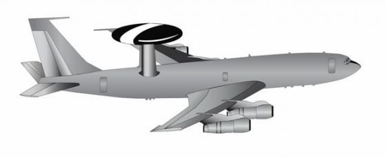 """美军E-3B""""望楼""""大型空中预警机778671png图片免抠素材"""