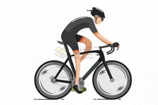 骑自行车公路自行车比赛的运动员赛车手侧视图png图片素材