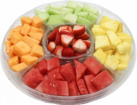 哈密瓜西瓜草莓菠萝香瓜等水果拼盘243773png图片素材