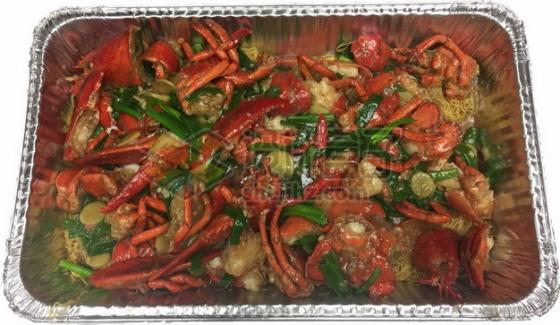锡纸盘中的麻辣小龙虾965909png免抠图片素材