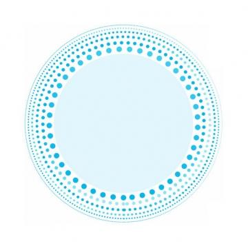 各种蓝色圆点组成的圆环装饰139056png图片素材