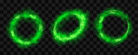 绿色的烟圈毒圈有毒烟雾png图片免抠矢量素材