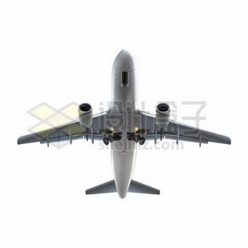 逼真起飞或降落中的大型客机飞机904732 png图片素材