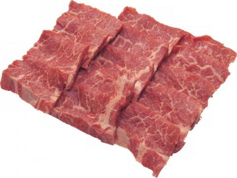 切好摆放整齐的雪花牛肉570947png图片素材