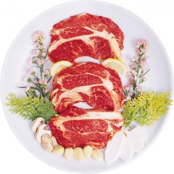 切好放盘里的牛肉425596png图片素材