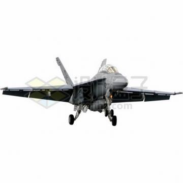 准备降落的F18大黄蜂战斗机png免抠图片素材