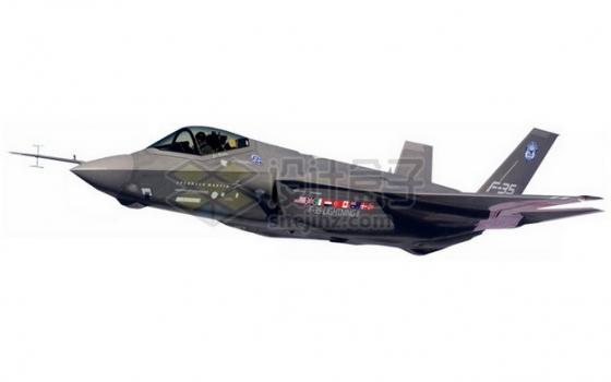 黑色涂装的F35肥电战斗机766329png免抠图片素材