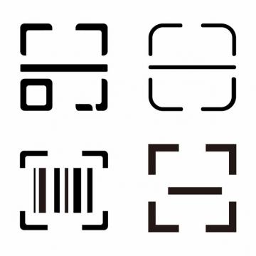 4款手机扫码二维码边框扫一扫提示图png图片素材519720
