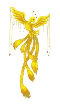 卡通黄色凤凰鸟png图片免抠素材