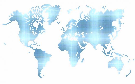 蓝色点状世界地图447155png图片免抠素材