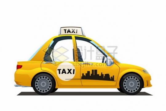 黄色的卡通出租车617354png图片素材