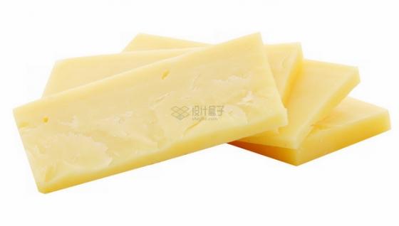 切成片的黄色奶酪png图片素材