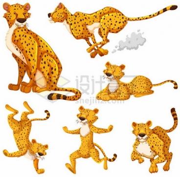 6款卡通猎豹983032png图片素材