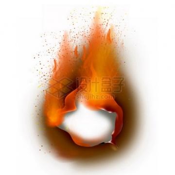 燃烧着火焰的纸张特效果347332png图片素材