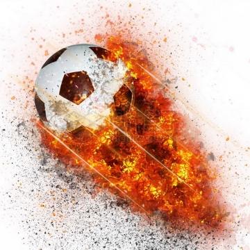 燃烧着火焰的足球特效果589045png图片素材