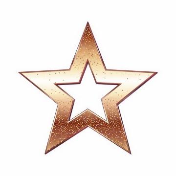 空心的金色五角星免抠png图片矢量图素材