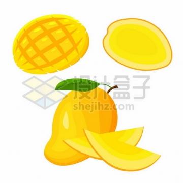 切开的黄芒果png图片素材428568