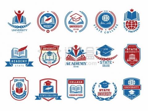 15款学校班徽设计图案大全810311png矢量图片素材