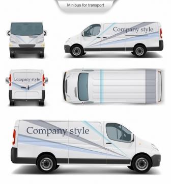 白色面包车小货车涂装样机557385图片素材