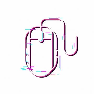 抖音故障风鼠标图案png图片素材949281