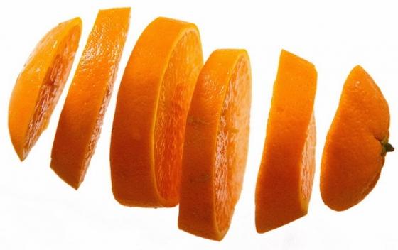 分离的切片橙子png图片素材
