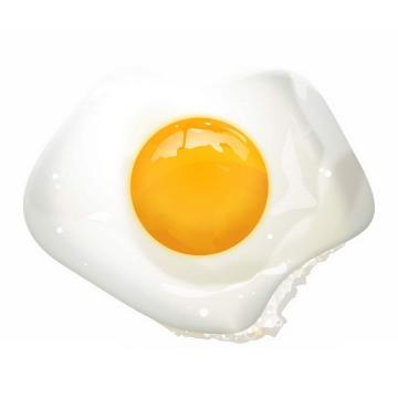 俯视视角的煎蛋荷包蛋美食图片免抠素材