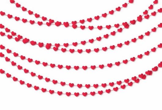红心心形项链彩灯装饰png图片免抠矢量素材